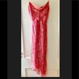 Laundry by Shelli Segal   Asymmetrical Silk Dress